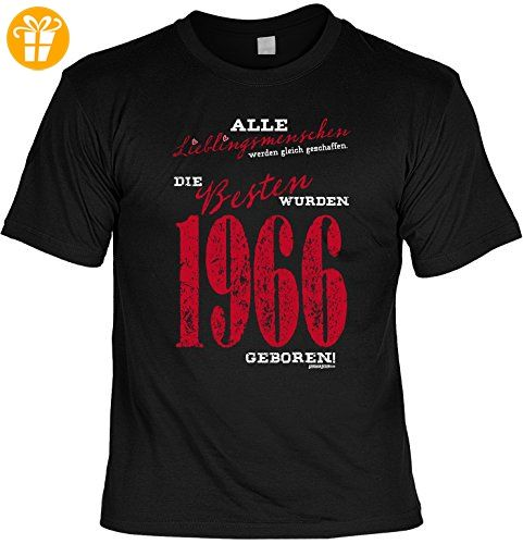 T-Shirt zum Geburtstag - Lieblingsmenschen - Die Besten wurden 1966 geboren! - Geschenk - Fun shirt - schwarz (*Partner-Link)