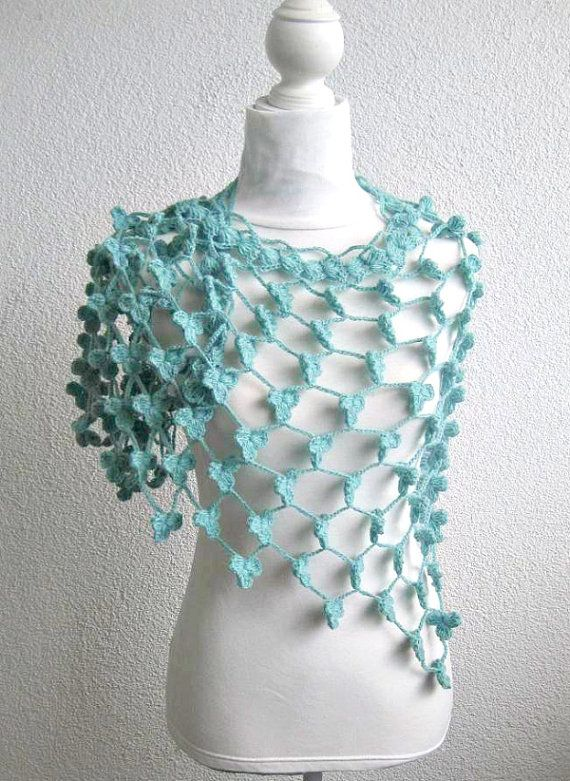 Marino crochet Shawl Crochet Triangle Shawl by Iovelycrochet, $97.00