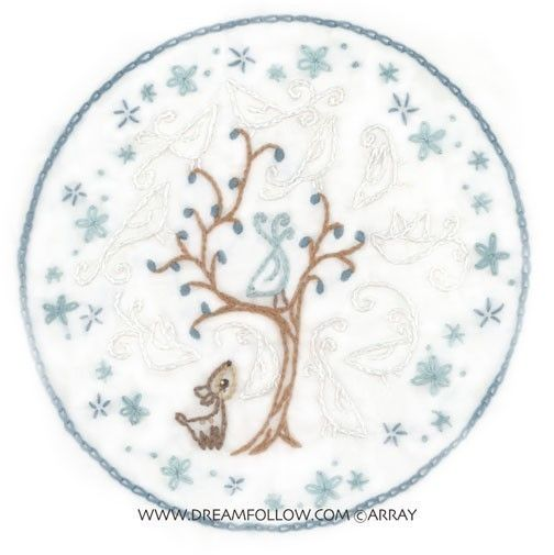 Ghost Birds Embroidery Pattern PDF