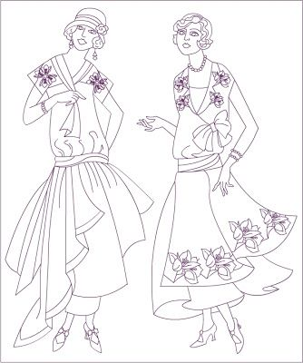 Free Coloring Pages Vintage Fashion Page This Would Be