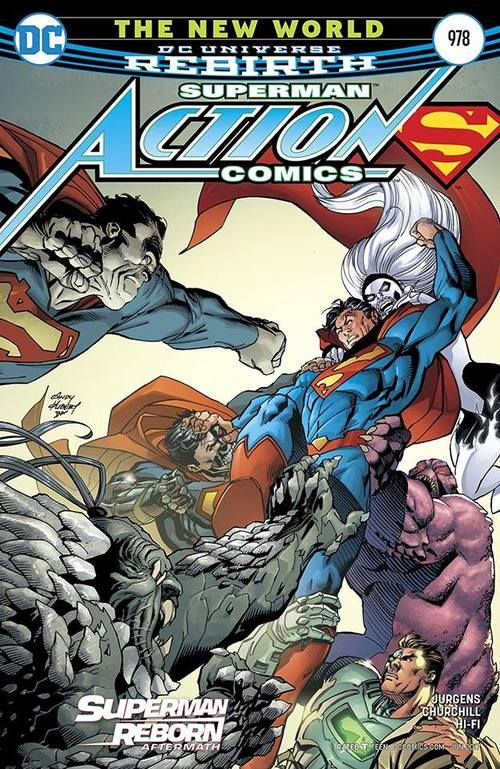 What's worse: the fact that Supeman's villains are banding together against him, or that they're squatting in Batman's Moon base to do it? Man, Bruce is gonna be so mad. Superman, April 2017