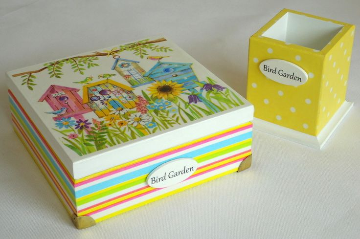 "Komplet ""Bird garden"" w White Blue na DaWanda.com"