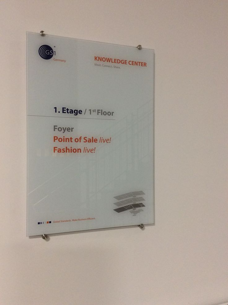 GS1 Germany Perspex sign