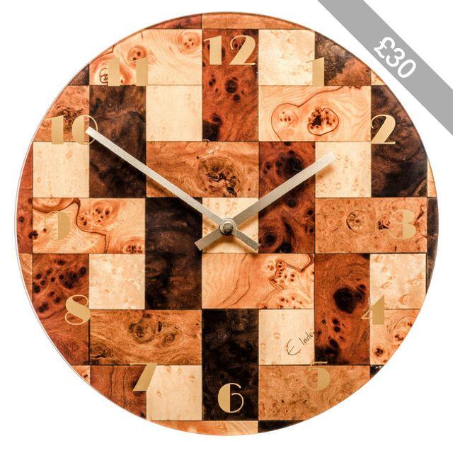 Brown Wall Clock Brown Cream Wall Clock Kitchen clock Melamine Wall Clock Brown clock E Inder Designs Anniversary Birthday Gift Valentines