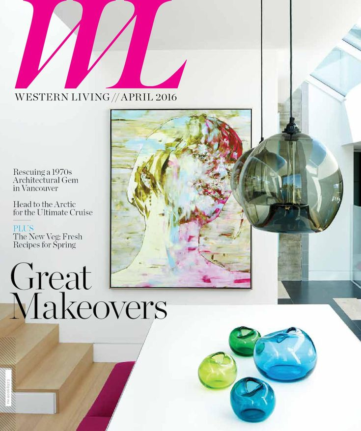 Western Living - BC, April 2016 Western Living magazine entertains readers on the subject of home design, food and wine, and travel and leisure. As Canada's largest regional magazine, Western Living invites readers to stretch their imaginations about living in the West: we share what intrigues, surprises and thrills us about people, places, homes, gardens, food and adventure from Winnipeg to Victoria and everywhere in-between.