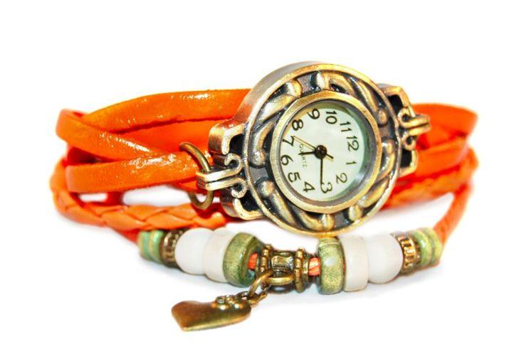 Harten Armband Horloge Oranje http://www.ovstore.nl/nl/harten-armband-horloge-oranje.html