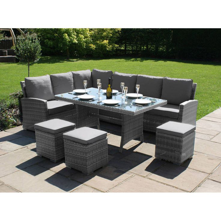 corner dining set in brown or grey by out there exteriors   notonthehighstreet.com