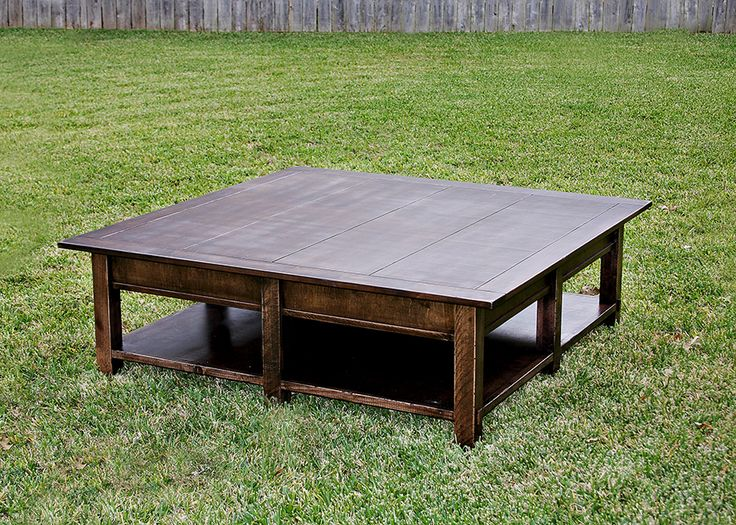 72 best farmhouse furniture and decor images on pinterest for Rustic oversized coffee table