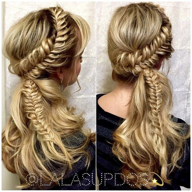Lalas Updos creates the most gorgeous braided styles! This one reminds us of a modern-day renaissance style. #hotonbeauty fb.com/hotbeautymagazine braids renaissance hairstyle
