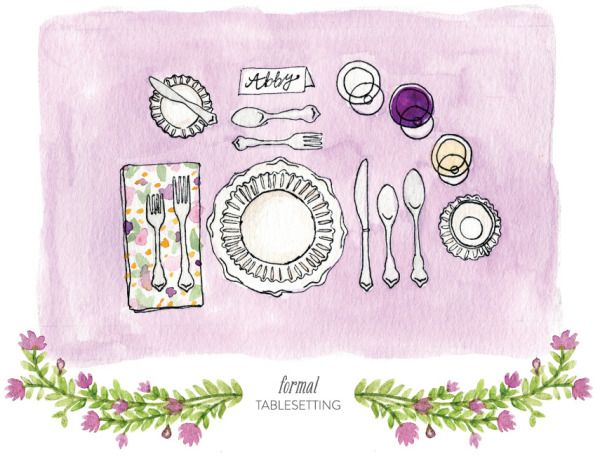 9 Best Images About Table Setting For Dummies On Pinterest