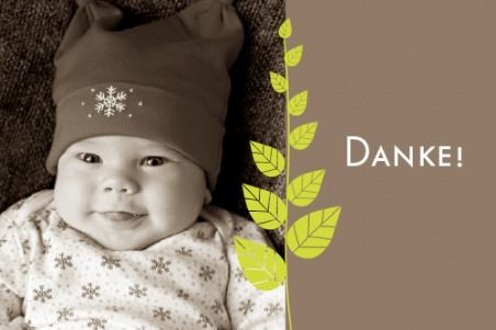Dankeskarte Mini Harmonie by Tomoë für Rosemood.de # Danksagung # Blätter # Baby #newbaby #babygirl #babyboy