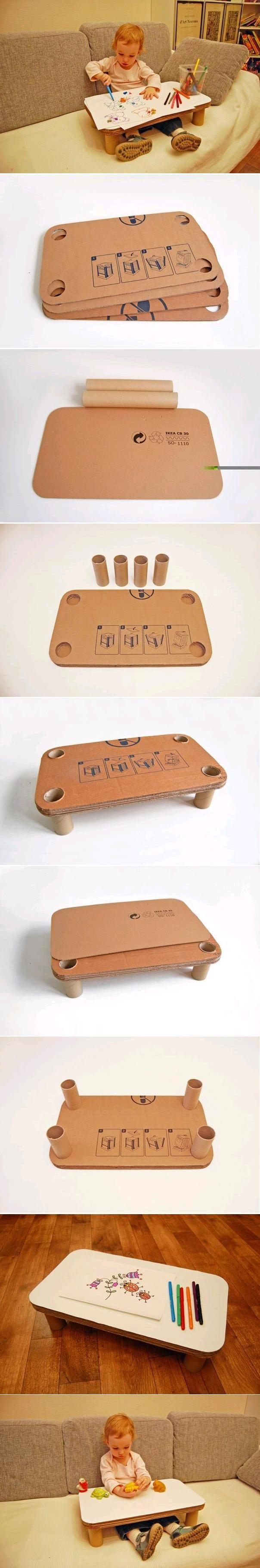 Mesa de Papelão para Crianças // DIY Children Cardboard Table
