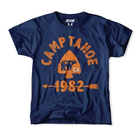 Camp Tahoe 1982 Kids T-Shirt | Frank Ozmun Graphic Design