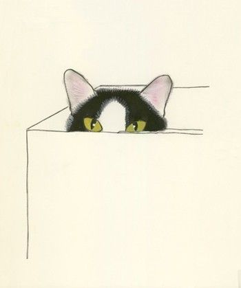 Cat Art  4 for 3 SALE  I Heart Boxes  4 X 6 by matouenpeluche, $6.25