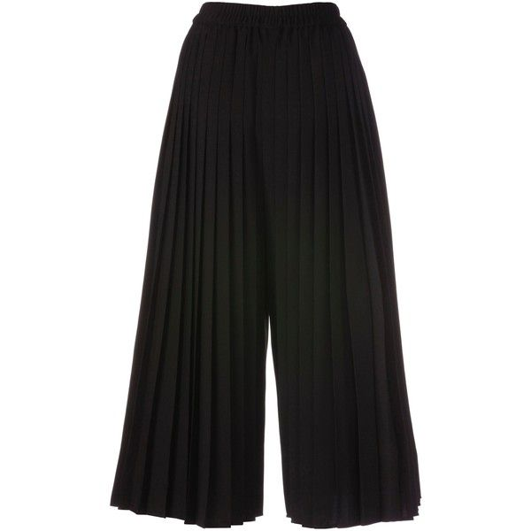 Culottes (£105) ❤ liked on Polyvore featuring pants, capris, elastic waistband pants, pleated pants, stretch waist pants, pleated trousers and elastic waist pants