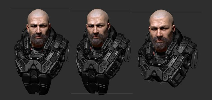 ArtStation - Wip_ Si-Fi character practice, Gary Huang