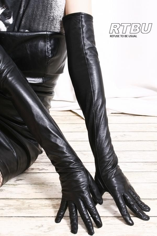 Necessary words... Fetish leather opera gloves
