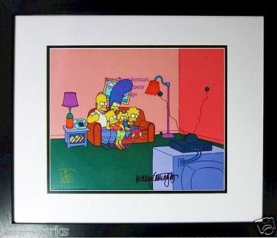 Bart O Lounger Simpsons cel Sericel Signed Voice Bart Nancy Cartwright PSA/DNA