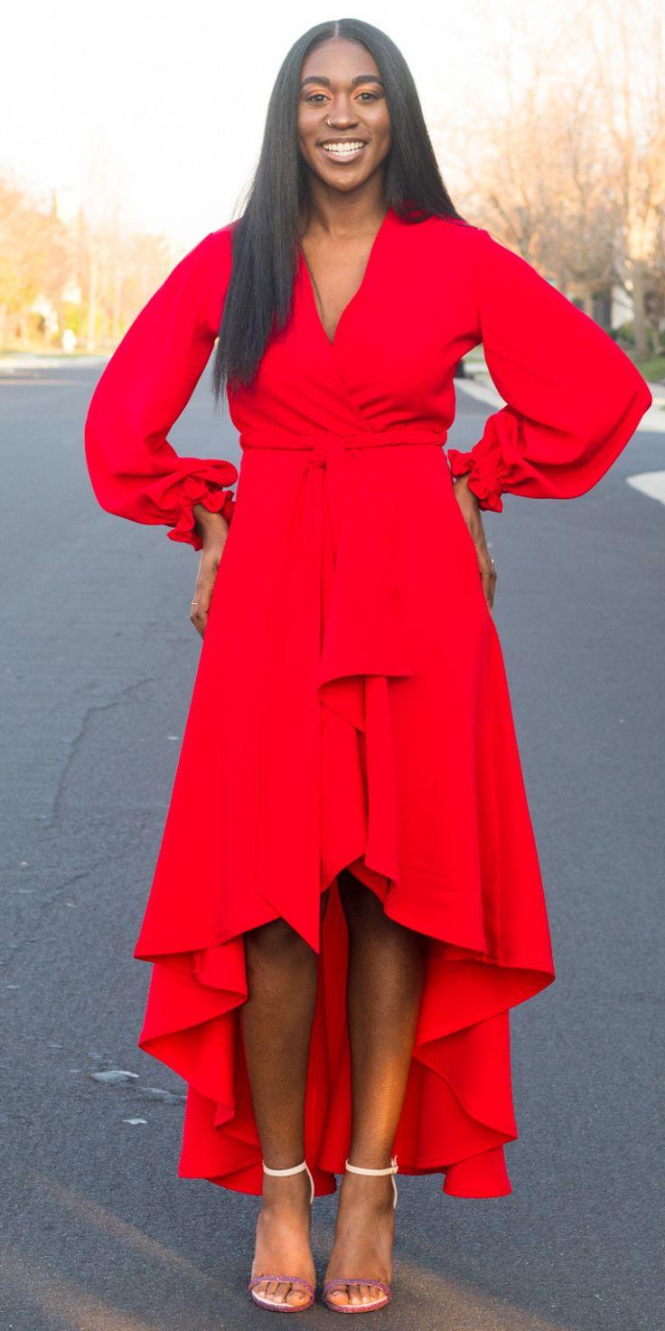 DIY High Low Wrap Coat Dress with Bishop Sleeve
