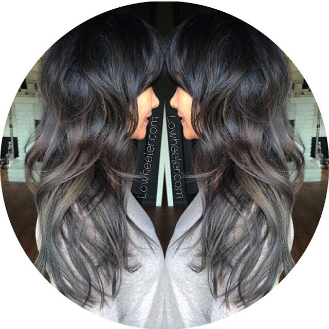 Not only do i love the pewter color but the cut is so cute too! #wishingihadlonghairagain