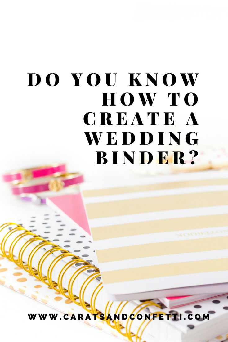 "Once you've said ""Yes"" and had your time to celebrate your engagement, the wedding planning begins. The first step every bride-to-be should take is creating a wedding planning and inspiration folder (or Pinterest Board) to stay organized. You can do a lot on your computer (you will learn to love spreadsheets) but wedding planning produces a lot of paper which you will need to keep organized. Click here to learn how to DIY your wedding binder."