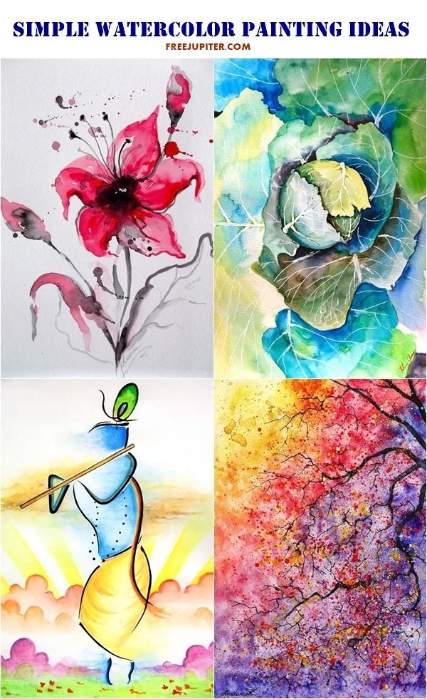80 Simple Watercolor Painting Ideas Beginning Watercolor Easy