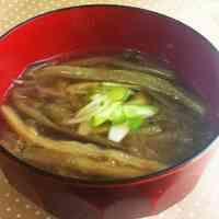 生姜と茄子そうめんの味噌汁