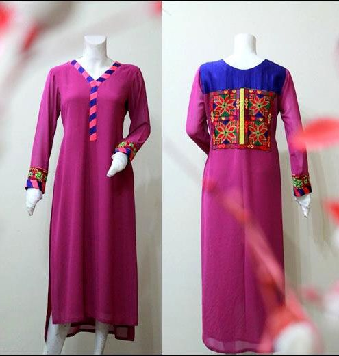 Latest Long Women Kurtas Style Kurta Designs for Girls 2013