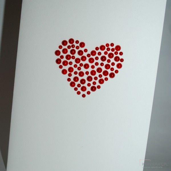 Kartka Walentynkowa serduszko
