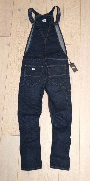 New Lee Bib WorkWear Dungarees Jeans Size Medium 34 32 Tapered Fit 101 Overall | eBay