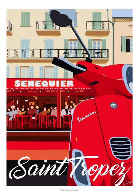 Affiche faisant partie de la collection Saint Tropez.