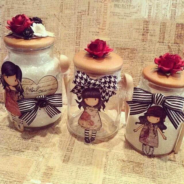 Gorjuss Glitter Jars .