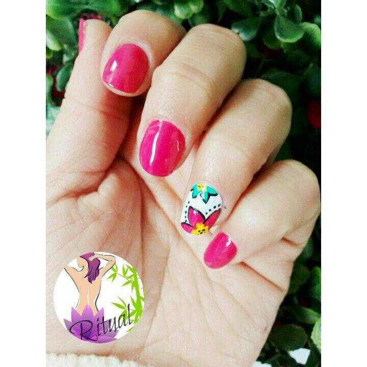 Manicure Flores🌸🌼🌻🌺