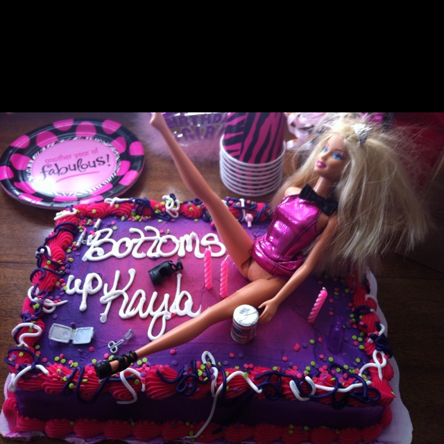 Trashy Barbie Cake