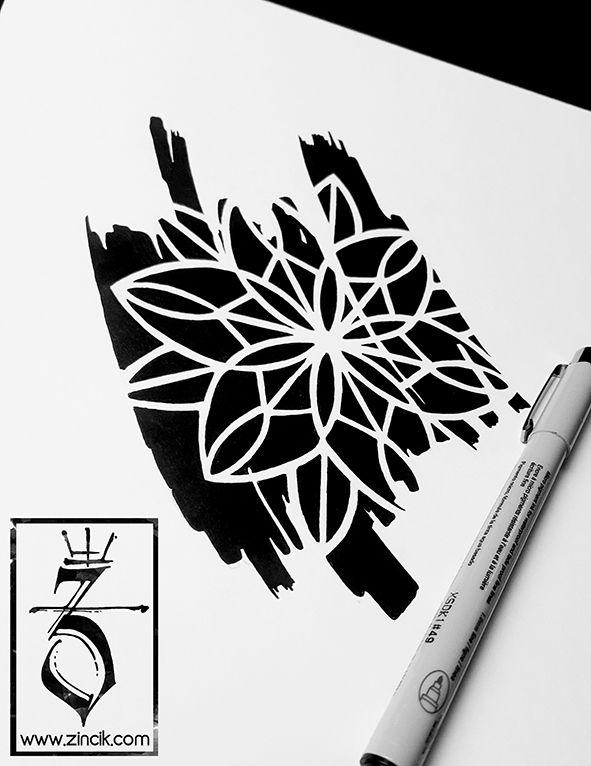 Martin Tattooer Zincik - Tattoo ZINCIK, mandala geometric marker tattoo design, Tetování Brno  / Praha