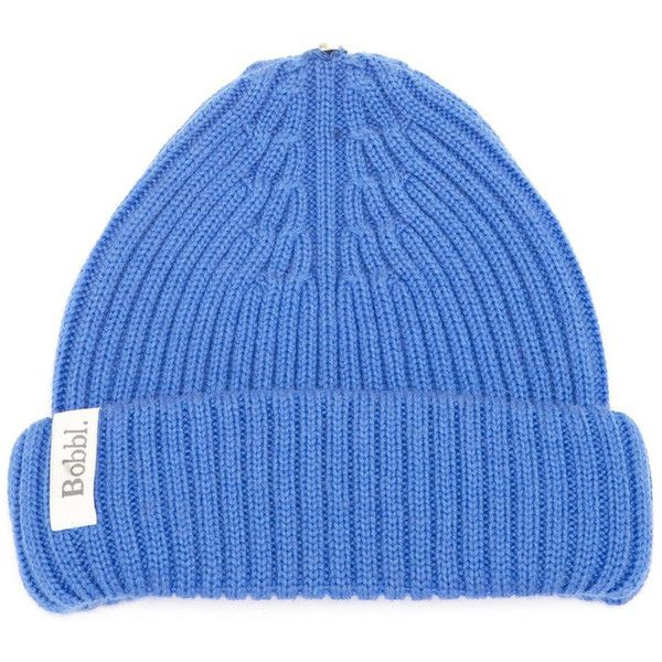 BOBBL Bobbl Knitted Hat - Cobalt Blue ($65) ❤ liked on Polyvore featuring accessories, hats, cobalt blue, beanie hats, fur hat, christmas hat, fur bobble hat and pom pom beanie hat