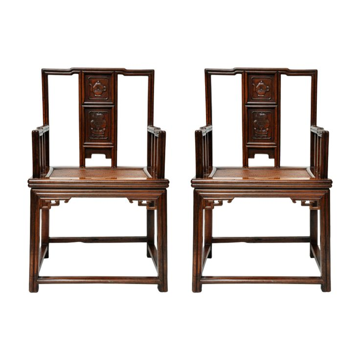 Pair of Antique Ming Dynasty Officials Chairs