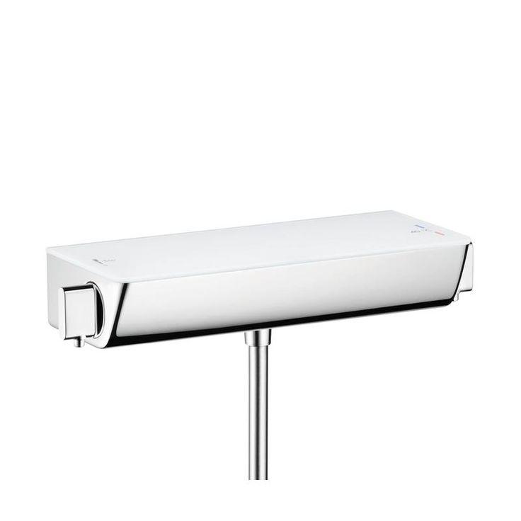 13161400 Hansgrohe  HG Ecostat Select dusjtermostat Med integrert glasshylle, Krom/Hvit