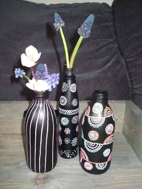creatief met koffiemelk flesjes