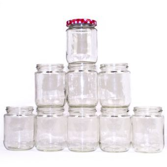 Hobbycraft Glass 8 oz Jar 12 Pack