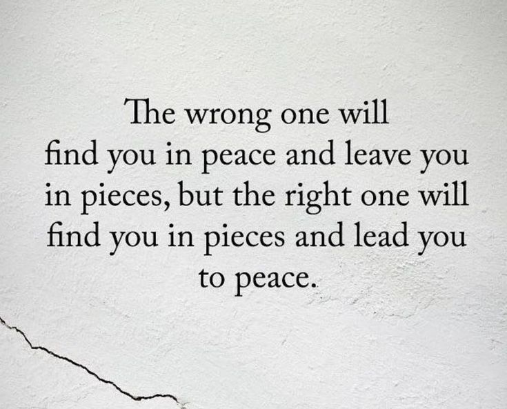 ...then leave you in pieces again. It's inevitable.