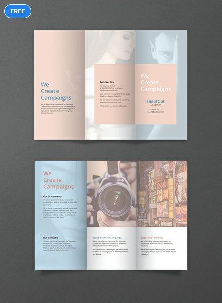 Free Blank Brochure Brochure template Blank brochure templates