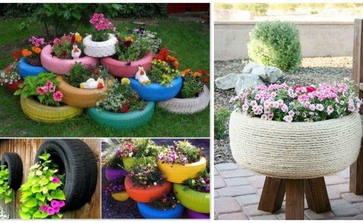 Néhány gumiabroncsból káprázatos kerti díszeket készíthetsz!