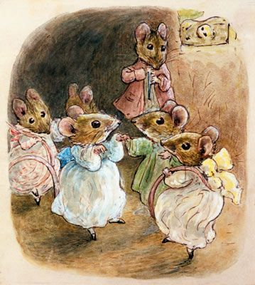Mrs. Tittlemouse's Party by Beatrix Potter via MuralsYourWay.com