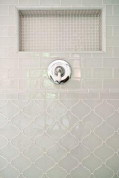Arabesque   Glass   White Tulip Glossy   Kitchen Backsplash Tiles