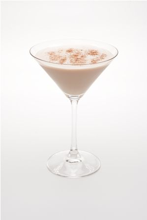 Midnight Martini...¾ oz Hiram Walker Caramel Apple Liqueur  ¾ oz ABSOLUT Vanilla  ¾ oz Kahlua  1 oz half & half