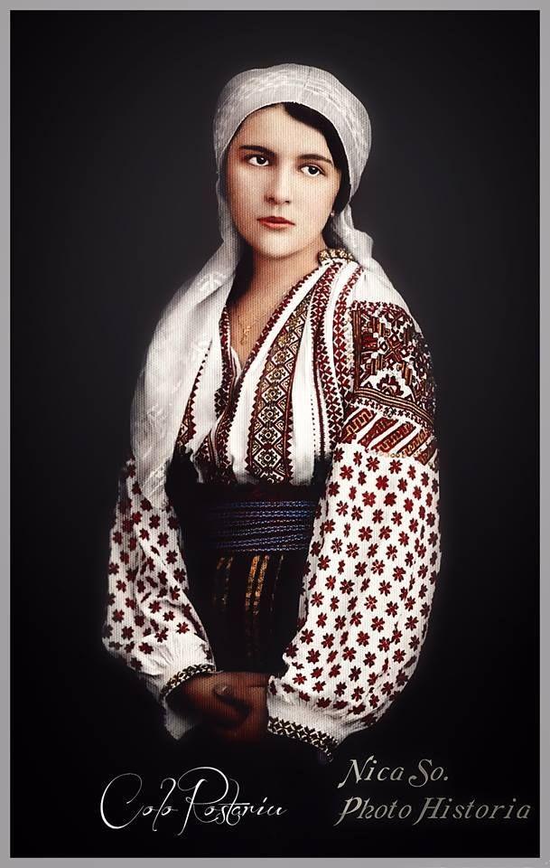 """Fotografie colorizata dar făcută la studioul """"Luvru"""" (""""Str. Academiei colţ Calea Victoriei""""), anii '20"""