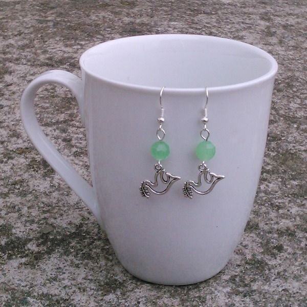 Romantic Sign of Peace / Dove Earrings from Toremore Crafts by DaWanda.com