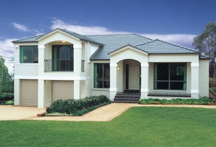 Clarendon Display Homes: Leura Tuscan Facade. Visit www.localbuilders.com.au/display_homes_nsw.htm for all display homes in New South Wales
