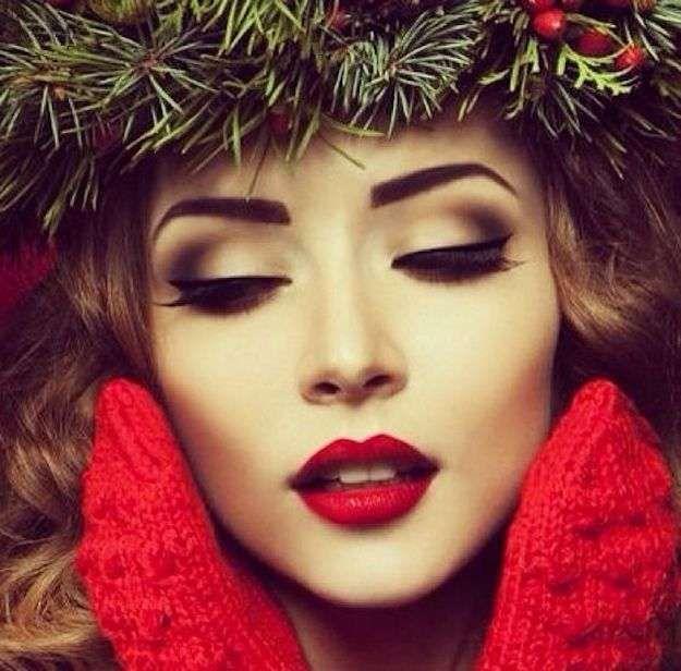 Maquillaje de Navidad 2017: fotos de las mejores ideas - Maquillaje Navidad clásico